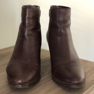 Coach brown booties size 8